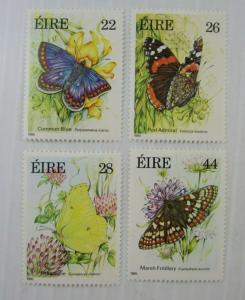 1985 Ireland SC #612-15 BUTTERFLIES   MH stamp set