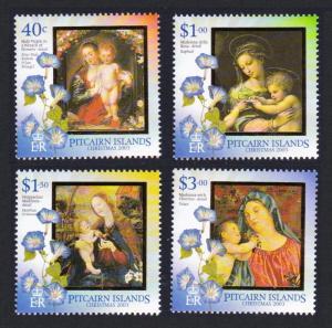 Pitcairn Christmas 4v issue 2003 SG#656-659 SC#587-590