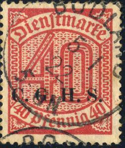 HAUTE SILÉSIE / OBERSCHLESIEN - BODLAND (Bogacica) (B) on Mi.D13 40pf C.G.H.S.