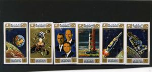 MANAMA 1971 Mi#578-582B SPACE APOLLO 15  SET OF 6 STAMPS IMPERF. MNH