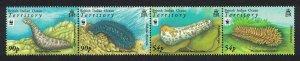 BIOT WWF Sea Cucumbers Strip of 4v SG#392-395 MI#470-473 SC#361-364