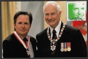CANADA Sc #2553 - MICHAEL J. FOX, ACTOR & SOCIAL ACTIVIST, MAXICARD # 2