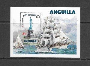 SHIPS - ANGUILLA #663  TALL SHIPS  MNH