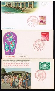 JAPAN STAMP FDC COVER X 3