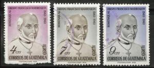 Guatemala  Scott C316-318 used stamp set 1965