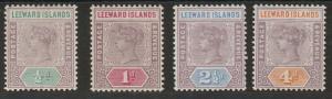 LEEWARD ISLANDS 1890 QV TABLET 1/2D - 4D