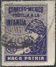 Mexico RA8 (used) 1c mother & child, vio (1929)