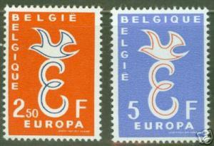 BELGUM BELGIQUE Scott 527-8 MNH** 1958 Europa CV$8