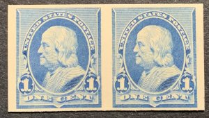 219 pair.  Proof Plates.  Mint No Hinge.  Perfect condition!