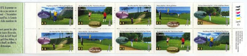 Canada - 1995 43c Golf Complete Booklet mint #BK176b