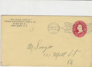 united states 1910 peter schneiders sons & co new york stamps cover ref 21101