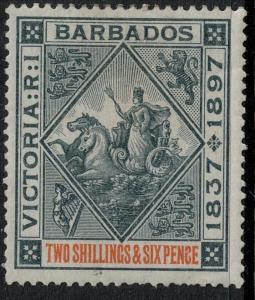 Barbados 1897 SC 89 Mint SCV $115.00