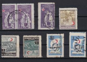 turkey perforation error stamps ref r11299
