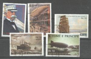 Sao Tome e Principe 1988 Ships, Zeppelins, used   M.267