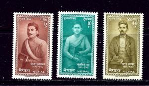 Nepal 141-43 MNH 1962 set