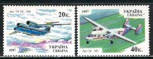 Ukraine; 1997: Sc. # 281-282: **/MNH Cpl. Set