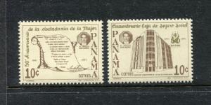 Panama 789-790, MNH, 1991 Social Security Administration. x26693