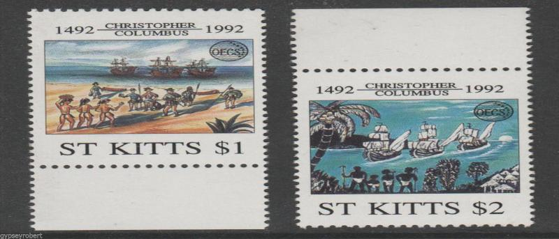 ST KITTS  Organization of East Caribbean States  1992    COMPLETE SET