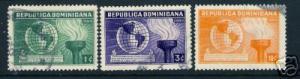 236C DOMINICAN REP. DOMINICANA 332-334 VFU