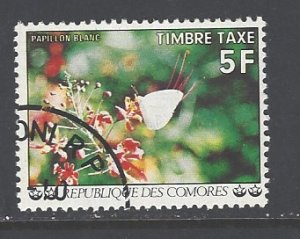 Comoro Islands Sc # J8 used (DT)