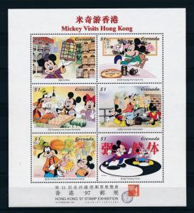 [25110] Grenada 1997 Disney Mickey Minnie Mouse Goofy Visits Hong Kong