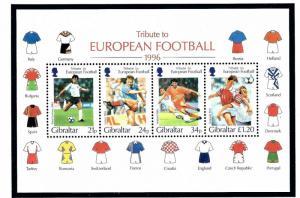Gibraltar 710a MNH 1996 Soccer S/S