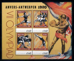 [78211] Guyana 2010 Olympic Games Antwerp Gymnastics Wrestling Sheet MNH