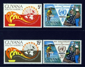 GUYANA 1970 Complete United Nations 25th Anniversary Set SG 523 to SG 526 MINT