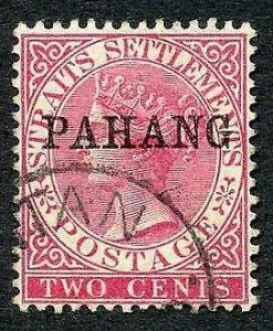 Pahang SG6 2c Bright Rose Very Fine used Cat 14 pounds