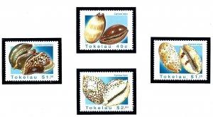 Tokelau Is 232-35 MNH 1996 Sea Shells       (KA)