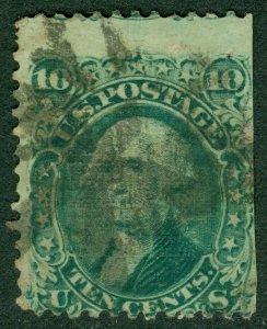 EDW1949SELL : USA 1868 Scott #89 Used. Straight edge. Catalog $350.00.
