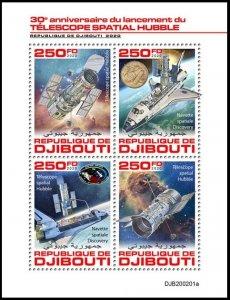 DJIBOUTI 2020 HUBBLE SPACE TELESCOPE SHUTTLE ESPACE RAUMFAHRT SPAZIO [#200201]