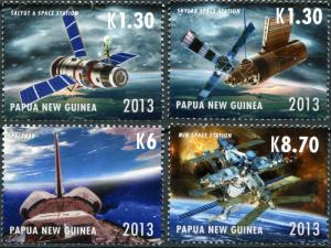 Papua New Guinea. 2013. International Space Station (MNH OG) Set of 4 stamps