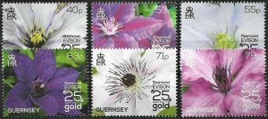 2013 Guernsey Beautiful Flowers, Blossoms complete set VF/MNH! LOOK!