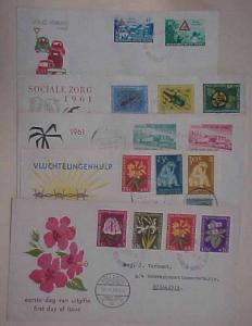 NETHERLANDS NEW GUINEA 5 DIFF. FDC 1959-1962 CACHET ADDRESSED
