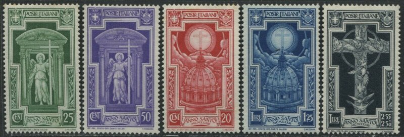 Italy 1933 Holy Year set mint o.g. hinged