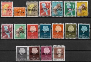 1962 U.N. TEMPORARY EXECUTIVE AUTHORITY, WEST NEW GUINEA 1-18 MNH