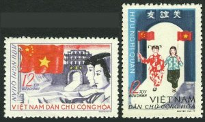 Viet Nam 383-384,MNH.Michel 399-400. Viet Nam - China Friendship,1965.