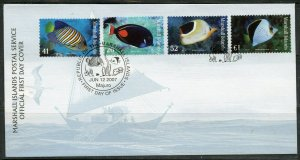 MARSHALL ISLANDS 2007 FISH DEFINITIVES FIRST DAY COVER