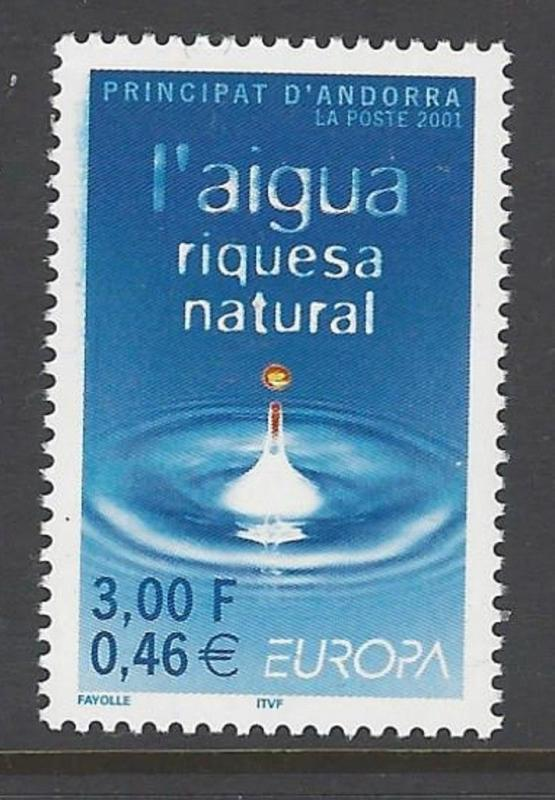 Andorra French 2001 Water Europa VF MNH (536)