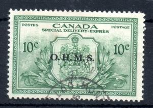 Canada 1950 OHMS 10c Special Delivery fine used OS20 WS13532