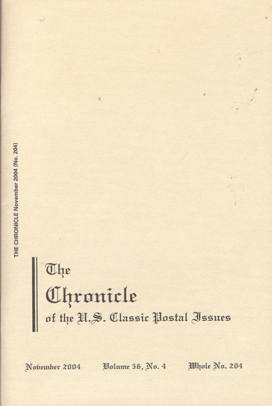 The Chronicle of the U.S. Classic Issues, Chronicle No. 204