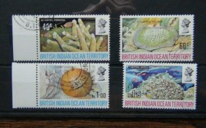 British Indian Ocean Territory 1972 Coral set Used