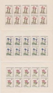 CZECHOSLOVAKIA SET OF FLOWERS ISSUED IN 1960 #1013-1018 LOT#415,415a,415b