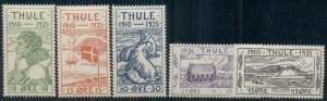 GREENLAND 1935 THULE LOCALS, Complete set, og, hinged, VF