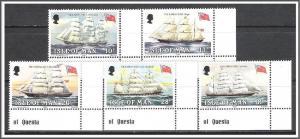 Isle Of Man #254-258 Falkland Links Complete Set MNH
