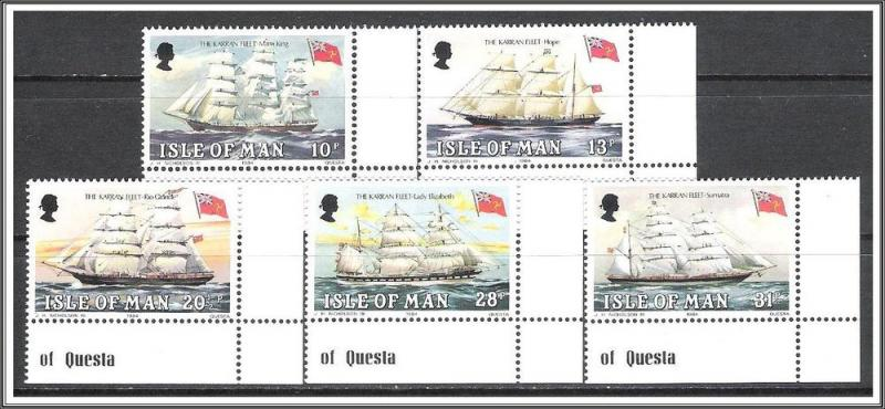 Isle Of Man #254-258 Falkland Links Complete Set MNH
