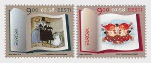2010 Estonia Children's Books - Europa Issue (2) (Scott 643-44) MNH