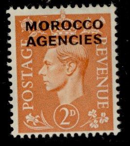 MOROCCO AGENCIES GVI SG80, 2d pale orange, NH MINT.