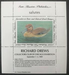 Sam Houston Philatelics salutes Richard Drews September 1-3, 1989 MNH